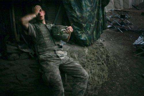 Figure 8: Tim Hetherington, Afghanistan, 2007.